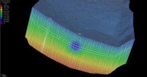 Distribution de la température dans un réservoir géologique (simulation)